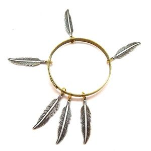 THUNDERBIRD LADYHAWKE MEDIUM FEATHER BANGLE - NEW